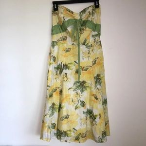 Anthropologie Summer Strapless Dress